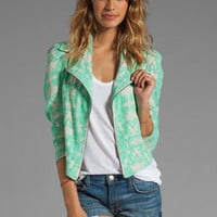 Donna Mizani Ultra Cool Moto Blazer in Ohana from REVOLVEclothing.com