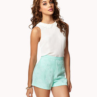 Embroidered Floral Shorts | FOREVER 21 - 2040494998