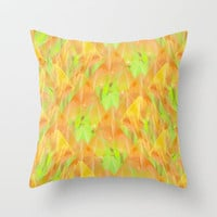 Tulip Fields #108 Throw Pillow by Gréta Thórsdóttir