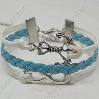 Infinity Bracelet - anchor bracelet with Infinity charm, easy lovely bracelet for girlfriend and BFF