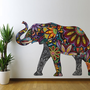 Colorful Good Luck Elephant Wall Sticker Decal