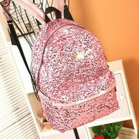 Sparking Full Paillette Backpack Bag