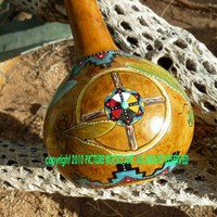 DRAGONFLY Spirit Medicine Wheel Native American Ceremonial Rattle | picturerocksart - Music/Instruments on ArtFire