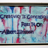 Inspirational Quote - Einstein Quote - Paint Splashes - Inspirational Art