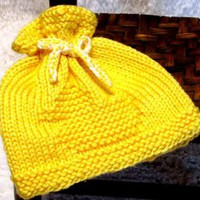 Knitting Pattern Newborn RUBBER DUCK EZ Knit Baby Hat Pattern Great as a Photo by ezcareknits