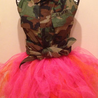 Coture Pink and Orange Flirty Tutu