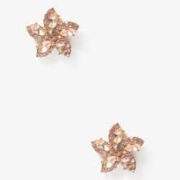 Rhinestone Floral Earrings | FOREVER 21 - 1044025607
