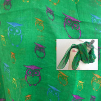 Colorful Scarf FREE Shipping Scarf Owl Print Scarves Spring Fashion - By PIYOYO