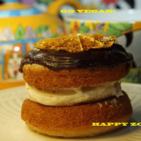Vegan Gluten Free  Vanilla Orange whoopie  pies and dark vegan chocolate  , love, birthday.