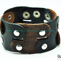 Cuff  Leather Bracelet Adjustable Brown Leather Bracelet jewelry bracelet bangle bracelet  2258S