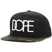 DOPE The Dope Logo Strapback Hat in Woodland Camo : Karmaloop.com - Global Concrete Culture