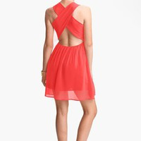 dee elle Cross Back Skater Dress (Juniors) | Nordstrom