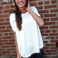 Short Sleeve Cream Piko | The Rage