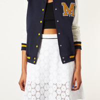 M Jersey Varsity Bomber Jacket - Jackets & Coats - Clothing - Topshop USA