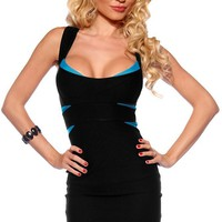 Amazon.com: Cross Back Fitted Bandage Clubwear Cocktail Party Dress: Clothing