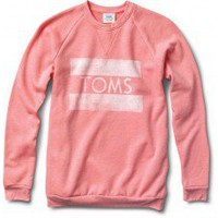 Women&#x27;s Heather Coral Classic Crew | TOMS.com