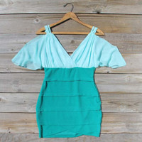 Oasis Mint Dress, Sweet Women's Bohemian Clothing