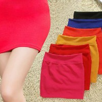 red dress Package hip Skirt,half-length skirt,A word Skirt