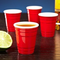 Mini Red Solo Cup Shot Glass Set of 4