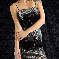 sequined strapless dress $34.50 in BLKRED BLKSLV - Nightclub | GoJane.com