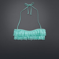 Ruffle Bandeau Swim Top