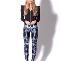 Circuit Board Purple Leggings (Made to Order)