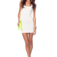 Scalloped Edge Dress in White :: tobi