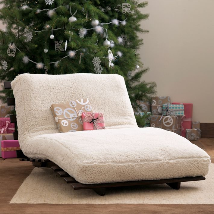 Sherpa Fleece Futon from PBteen  Epic Wishlist