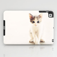 White and Grey Kitten iPad Case by Erin Johnson