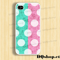 iPhone 5 4s Case Vintage Polka Dot - iPhone 4 Case Samsung Galaxy S3 Case