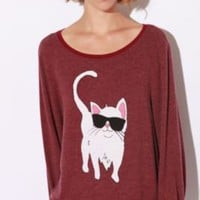 Wildfox Couture Cool Cat Baggy Beach Sweatshirt