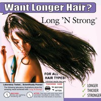 Want Longer Hair? Want Stronger Hair? Grow Hair Fast! Buy Long 'N Strong® - Complete Treatment Set (Lotion, shampoo and texturizing serum) -