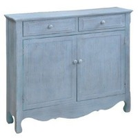 Amazon.com: Cottage Cupboard in Distressed Driftwood Blue: Home & Kitchen