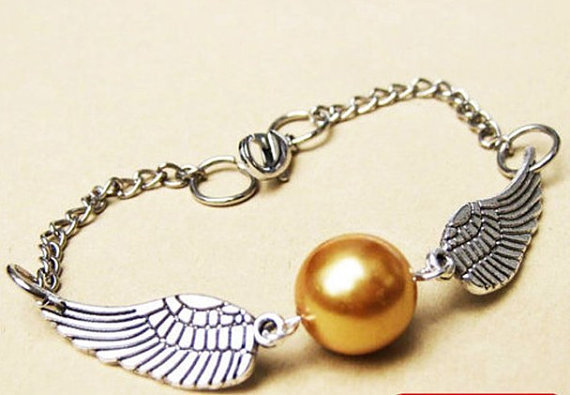 Steampunk Golden Snitch Bracelet In Silver by qizhouhuang on Etsy