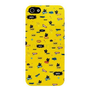 Black Cat Pattern Slim Cover Case for iPhone 5 - Yellow - Vanberry.com