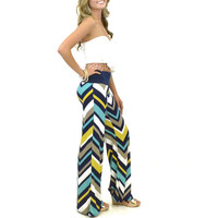 RESTOCKED Laguna Sunset Chevron Striped Palazzo Pants