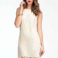 Sequin &amp; Lace Shift Dress