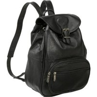 Amazon.com: AmeriLeather Ladies' Leather Backpack (Black): Clothing