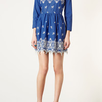 Embroidered Hem Flippy Dress - Dresses - Clothing - Topshop USA