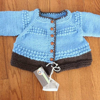 Ready to ship/ Baby Toddler Size Cardigan Sweater Jacket made out of wool with a BLANKET /Size 2L