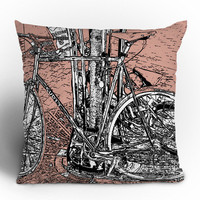 Romi Vega Bike Throw Pillow