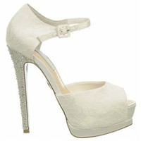 Women's BETSEY JOHNSON  Veil Ivory Fabric Shoes.com