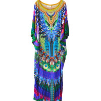 Camilla Huastecan Jungle Kaftan available at les pommettes los angeles