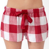 Buffalo Plaid PJ Shorts | FOREVER 21 - 2030187079