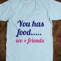 Food Equals Friends Tee - AV's Boutique - Skreened T-shirts, Organic Shirts, Hoodies, Kids Tees, Baby One-Pieces and Tote Bags