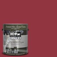 BEHR Premium Plus Ultra 1-Gal. #UL100-6 Red Velvet Interior Semi-Gloss Enamel Paint-375301 at The Home Depot