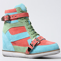 Jeffrey Campbell The Hagen Sneaker in Aqua Coral and Mint : Karmaloop.com - Global Concrete Culture