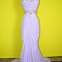 Classical Greece Goddess Purple prom dress/graduation dress