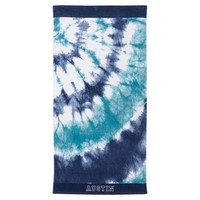 Tie Dye Blue Beach Towel