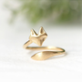 Fox ring / adjustable ring / choose your color-gold and silver